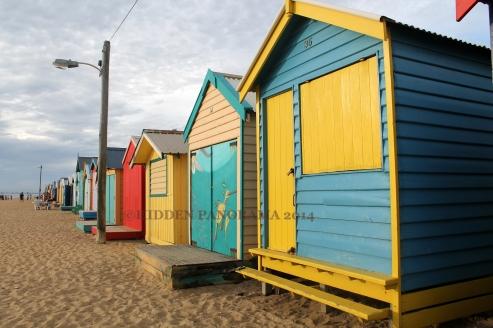 Quick Stroll Along Bathing Boxes Lane – Brighton Beach