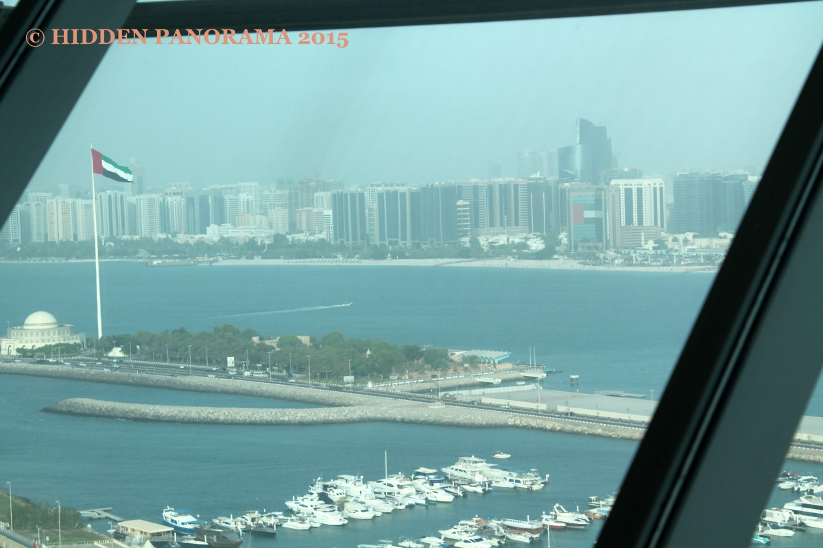 View At My Window : Abu Dhabi (Heritage Village, Theatre), Corniche Beach and CBD