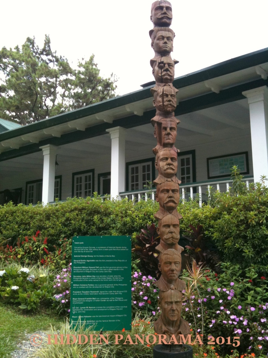 Enriching Viewpoint :  Camp John Hay - Historical Figures Totem Pole